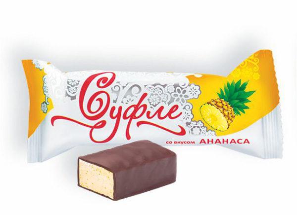 Конфеты Суфле со вкусом Ананаса