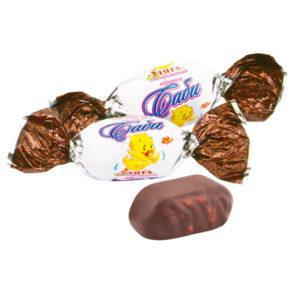 Карамель с шоколадно-ореховой начинкой