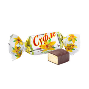 Candies with creamy blended filling